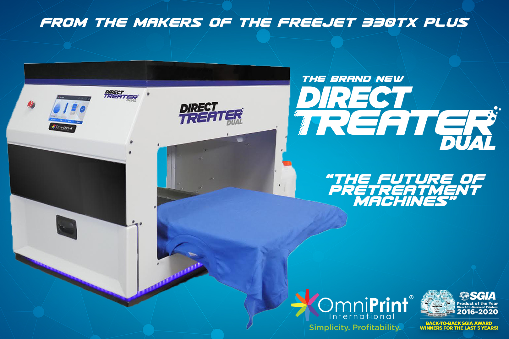 Direct Treater Dual DTG Pretreatment Machine, OmniPrint International