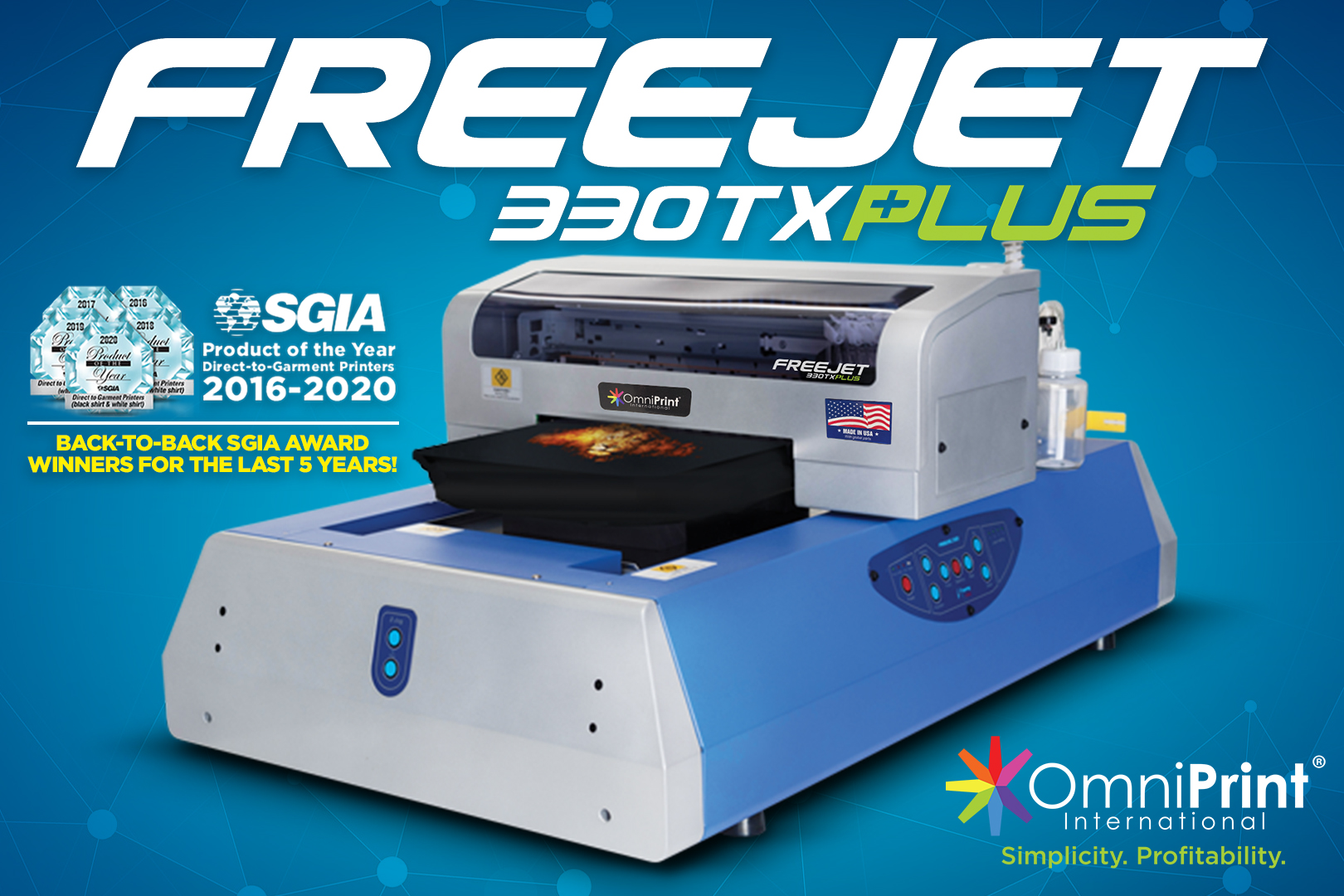 FreeJet 330TX Plus - Product of the Year 2020, OmniPrint International