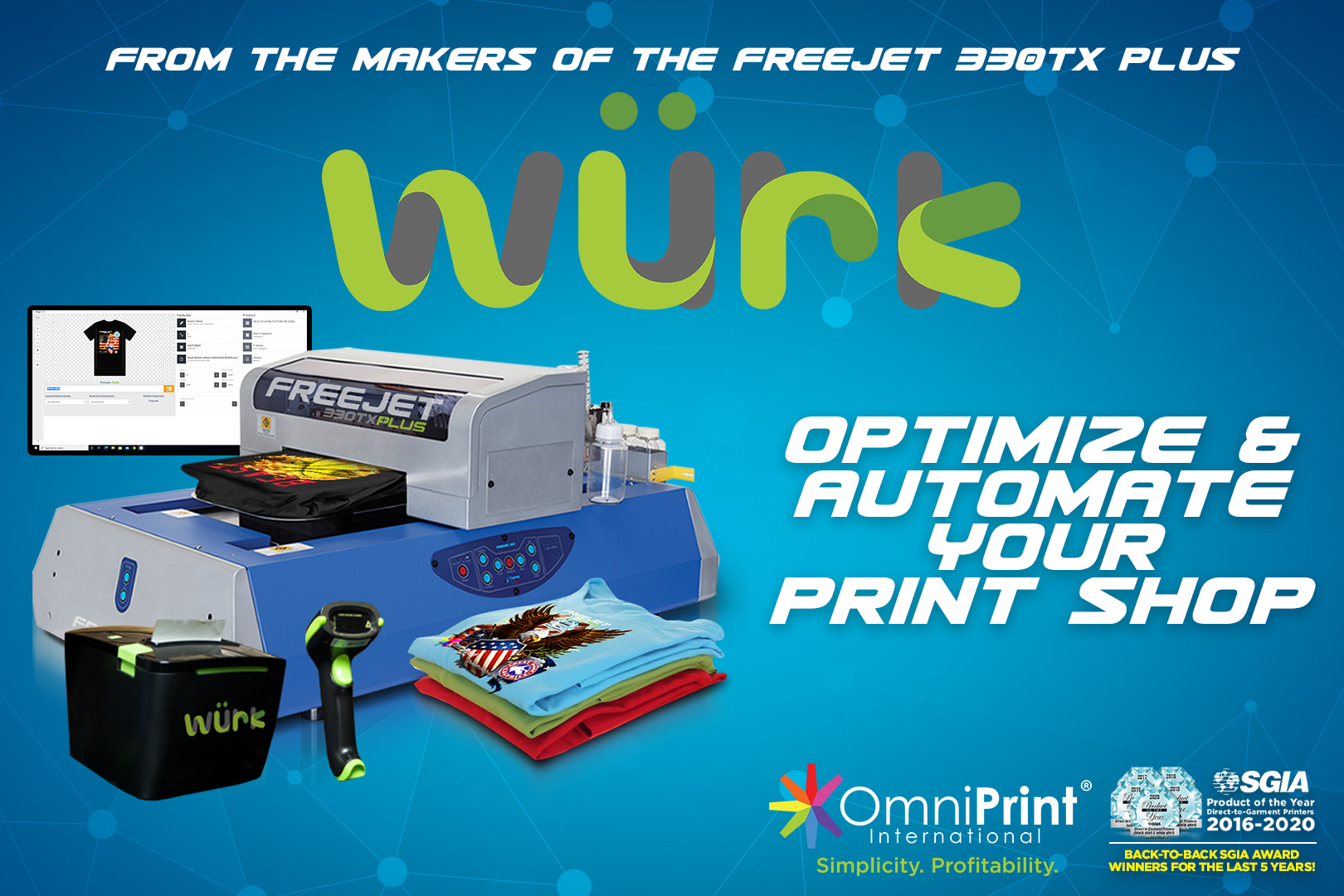 Wurk Print Shop Automation Suite 2020, OmniPrint International