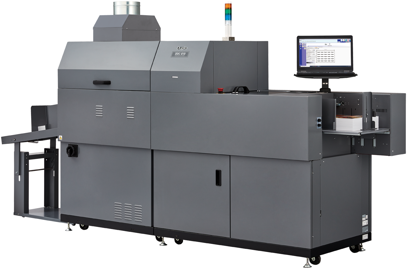 Duplo USA Corporation DDC-810 Raised Spot UV Coater, Duplo USA Corporation
