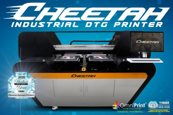 Save HUGE On A Cheetah Industrial DTG Package, OmniPrint International